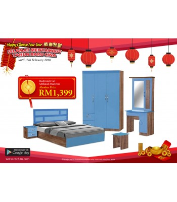 BEDROOM SET BRS111827-BL